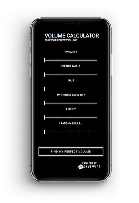 Volume Calculator on mobile device is responsive