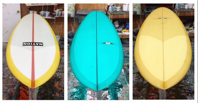 3 models of nation surfboards